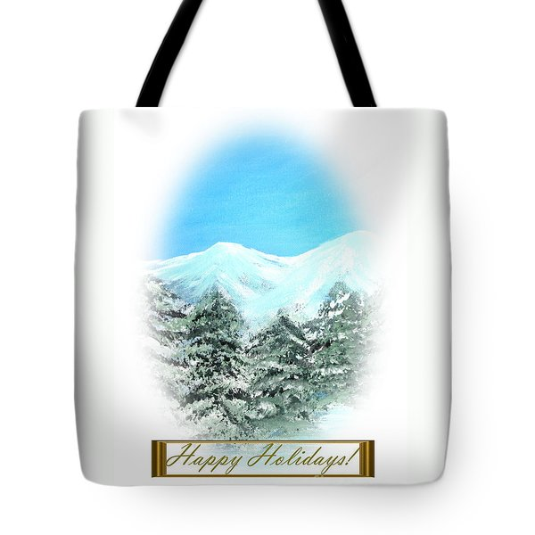 Happy Holidays. Best Christmas Gift Tote Bag