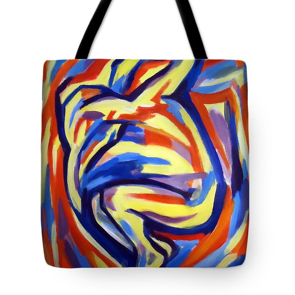 Tote Bag featuring the painting Here by Helena Wierzbicki