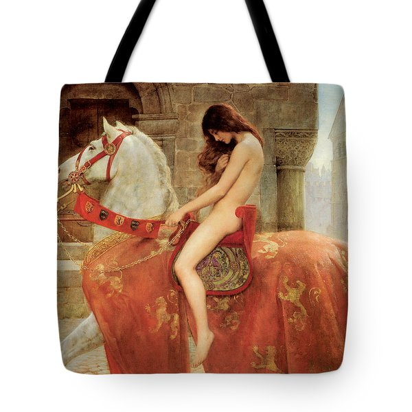 Lady Godiva Tote Bag by John Collier
