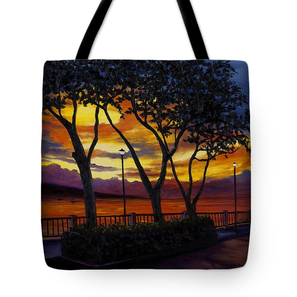 Lahaina Sunset Tote Bag