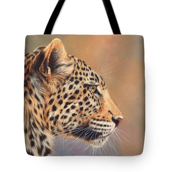 Leopard Tote Bag by David Stribbling