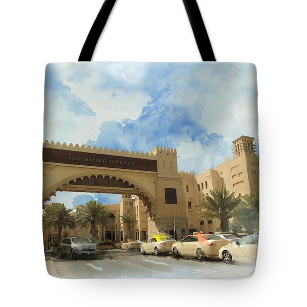 Madinat Jumeirah Tote Bag by Catf