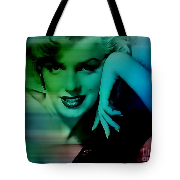 Marilyn Monroe Tote Bag by Marvin Blaine