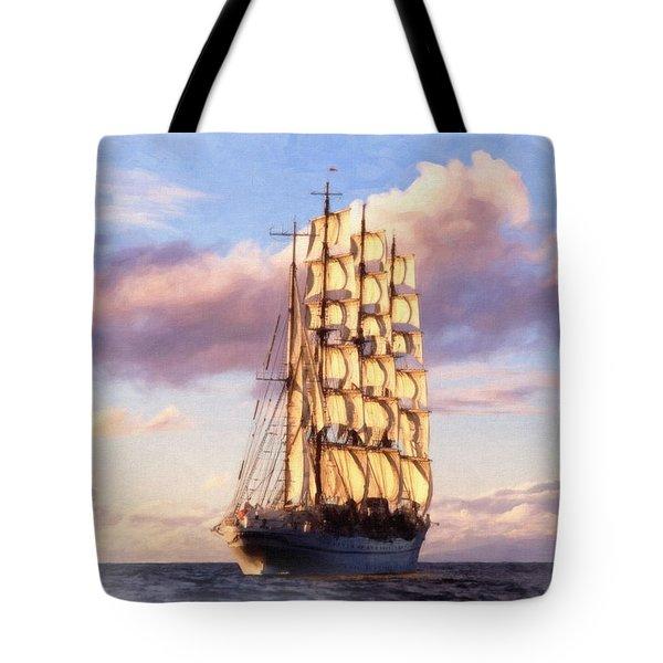 4 Mast Barque Tote Bag