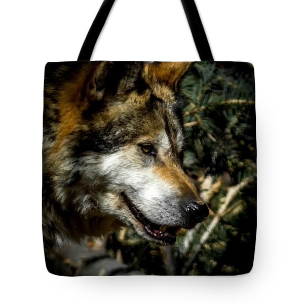 Mexican Grey Wolf Tote Bag by Ernie Echols