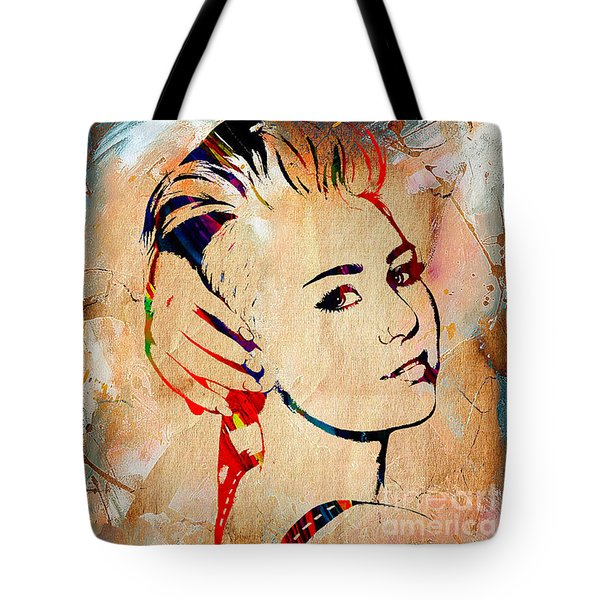 Miley Cyrus Collection Tote Bag by Marvin Blaine