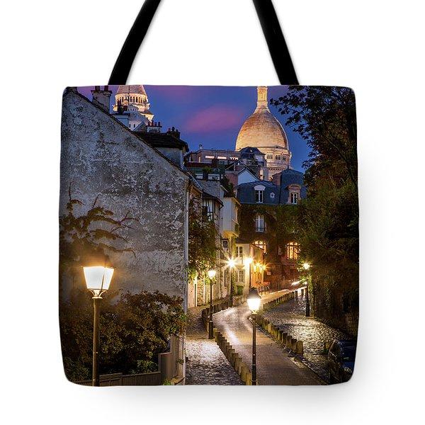Montmartre Twilight Tote Bag by Brian Jannsen