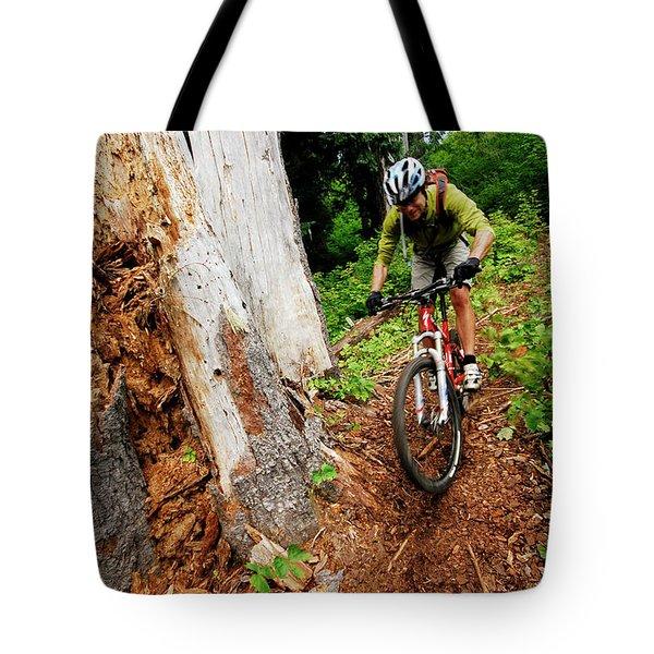 Mountain Biking At Mount. St. Helens Tote Bag