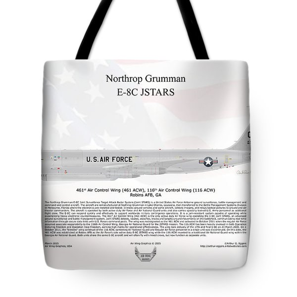 Northrop Grumman E-8c Jstars Tote Bag