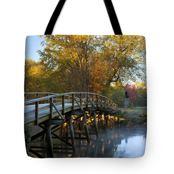 Old North Bridge Concord Tote Bag by Brian Jannsen
