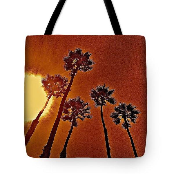 4 Palms N Sun Tote Bag by Joe  Burns