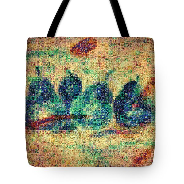 Tote Bag featuring the painting 4 Pears Mosaic by Paula Ayers