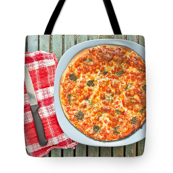 Pizza Tote Bag by Tom Gowanlock