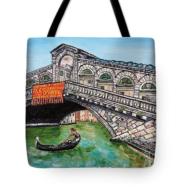 Ponte Di Rialto Tote Bag