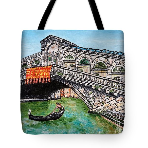 Ponte Di Rialto Tote Bag by Loredana Messina