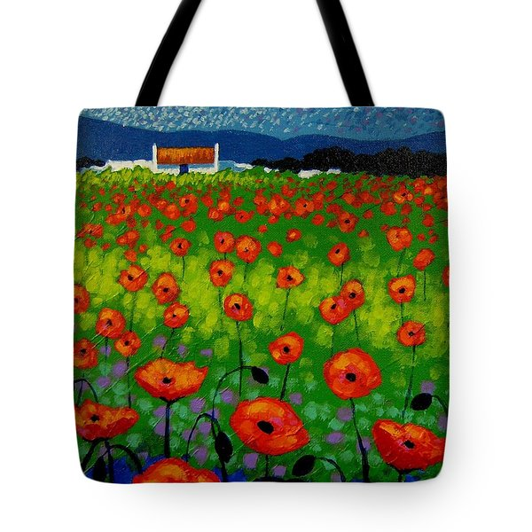 Poppy Field Tote Bag by John  Nolan