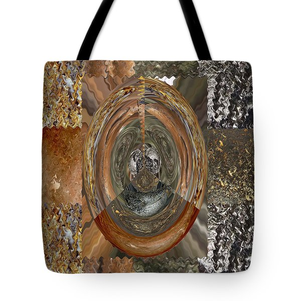 Rareearth Rare Earth Stones Minerals Microphotography Micro Photography Tiled Square Silver Chrome B Tote Bag