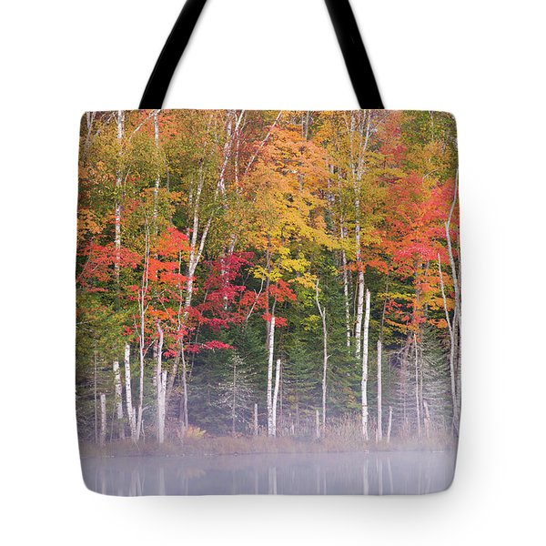 Reflection Of Trees In A Lake Tote Bag