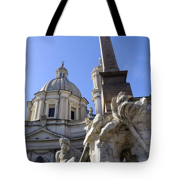 4 Rivers Fountain By Bernini In Rome Tote Bag