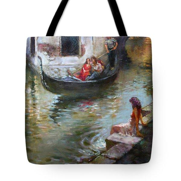 Romance In Venice  Tote Bag