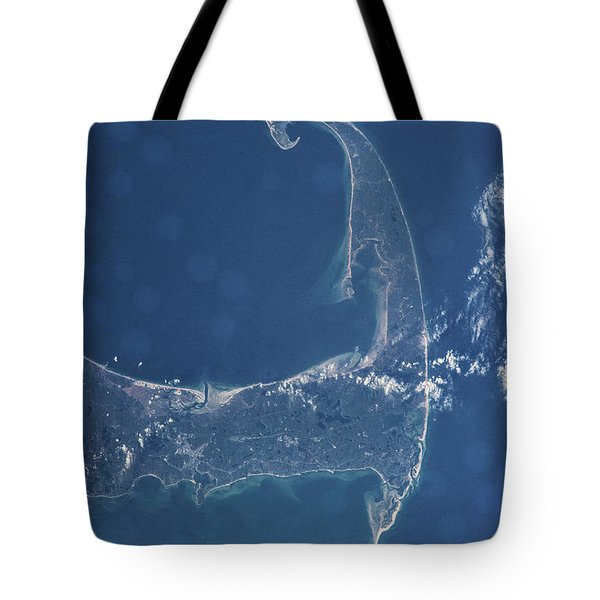 Satellite View Of Cape Cod National Tote Bag