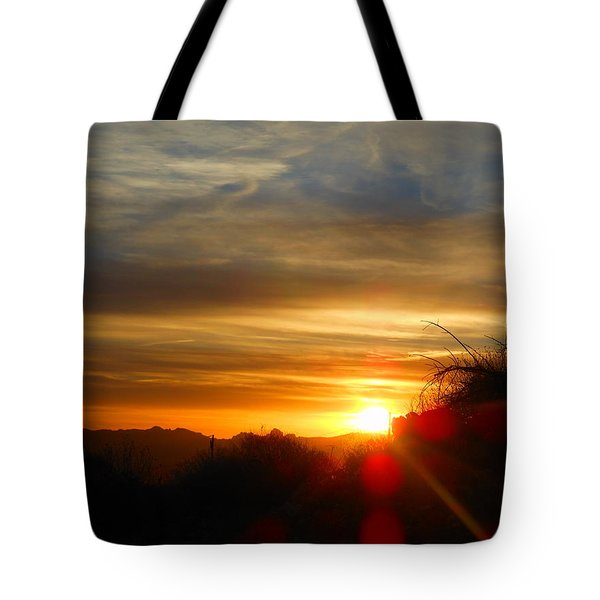 Sunset In Golden Valley Tote Bag