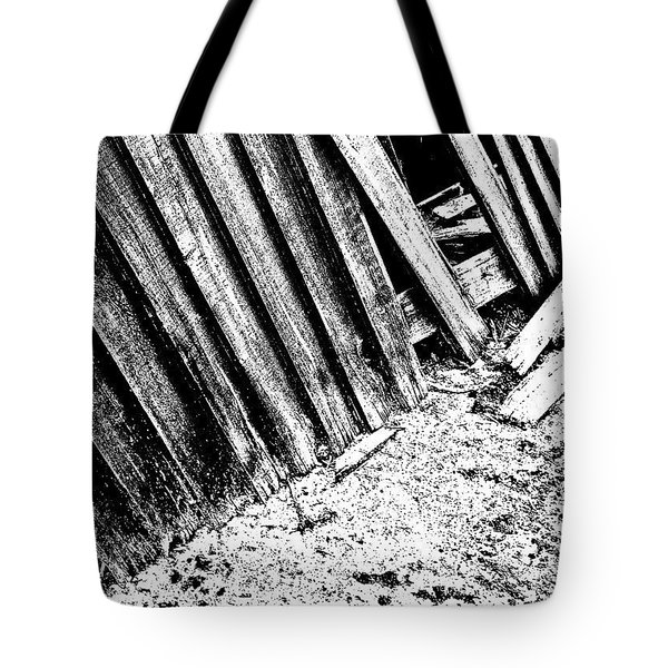 Broken Fence Tote Bag