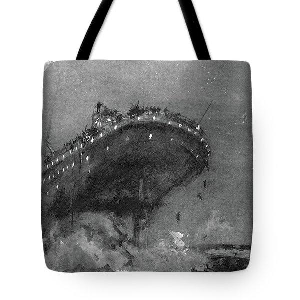 Titanic Sinking, 1912 Tote Bag