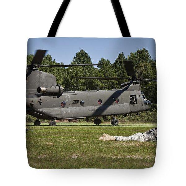 U.s. Soldiers Provide Security Tote Bag by Stocktrek Images