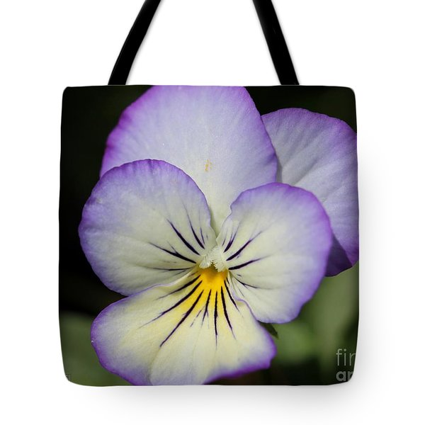 Viola Named Sorbet Lemon Blueberry Swirl Tote Bag by J McCombie
