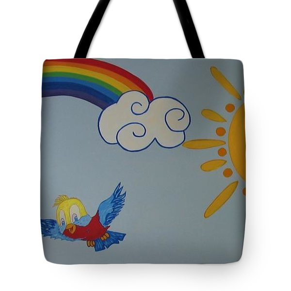 Wall Painting Tote Bag