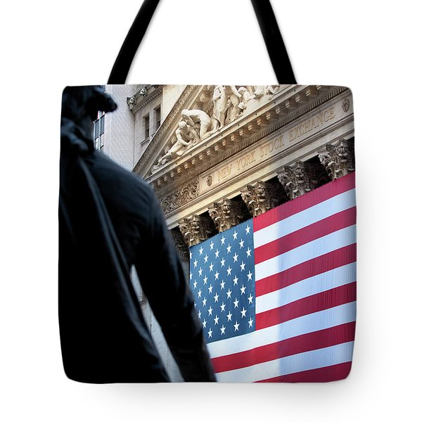 Wall Street Flag Tote Bag by Brian Jannsen