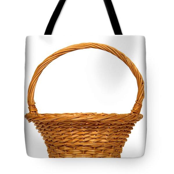 Wicker Basket Number Nine Tote Bag