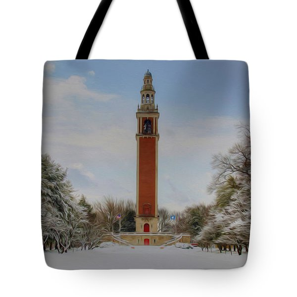 Winter At The Carillon Tote Bag by Kelvin Booker