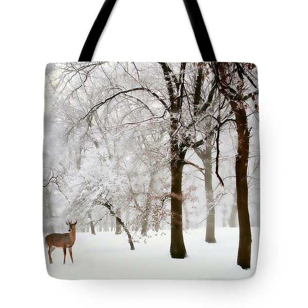 Winter's Breath Tote Bag by Jessica Jenney