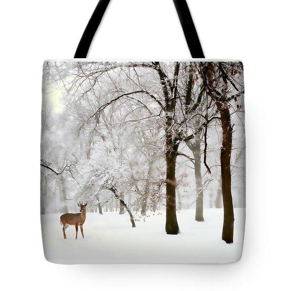 Winter's Breath Tote Bag