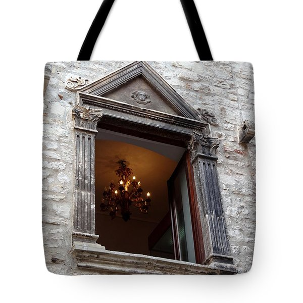 Views Of Split Croatia Tote Bag by Richard Rosenshein