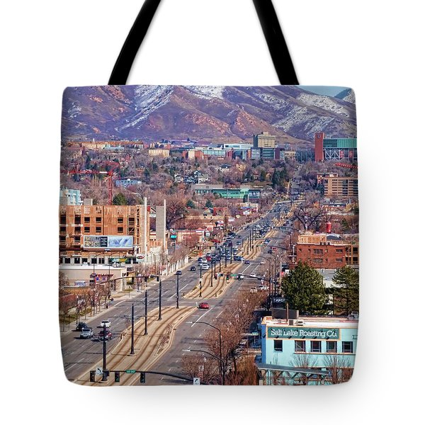 Tote Bag featuring the photograph 400 S Salt Lake City by Ely Arsha