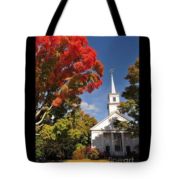 Lunenburg, Ma - Fall Foliage Tote Bag