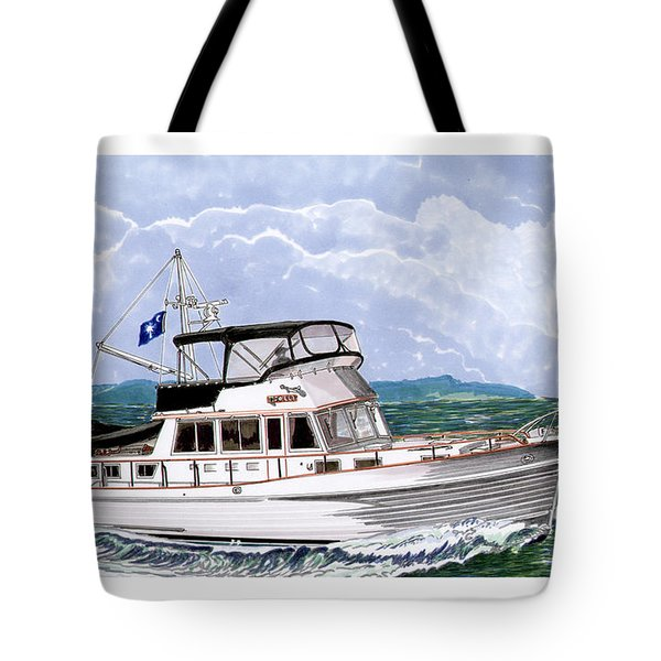 42 Foot Grand Banks Motoryacht Tote Bag
