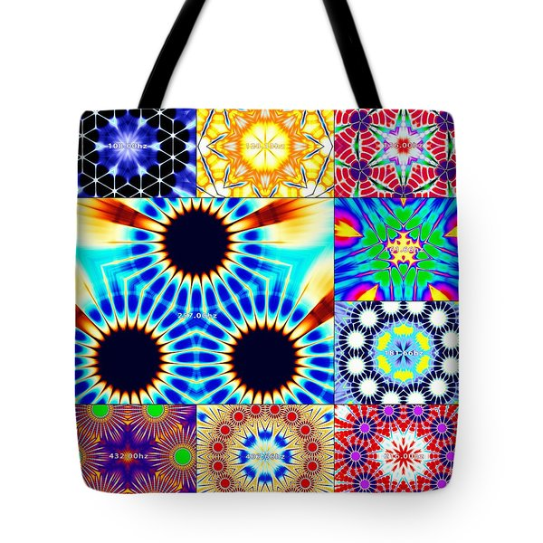 432hz Cymatics Grid Tote Bag
