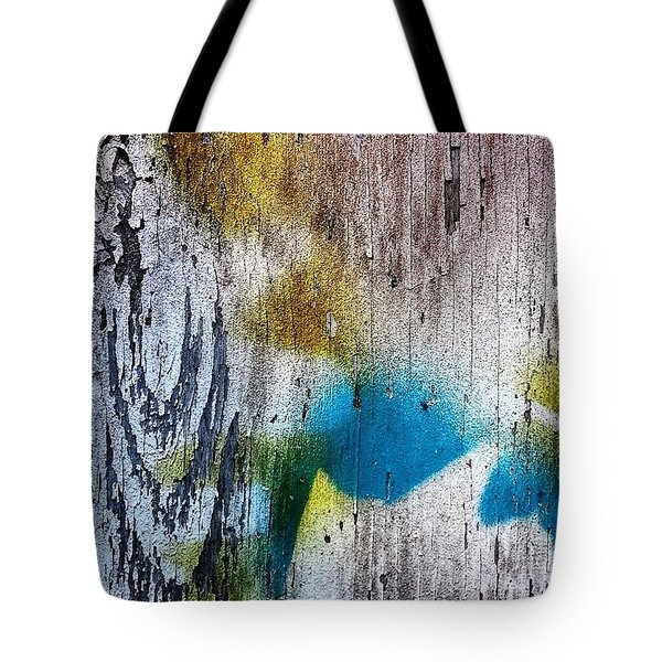 Wooden Wall 3 Tote Bag