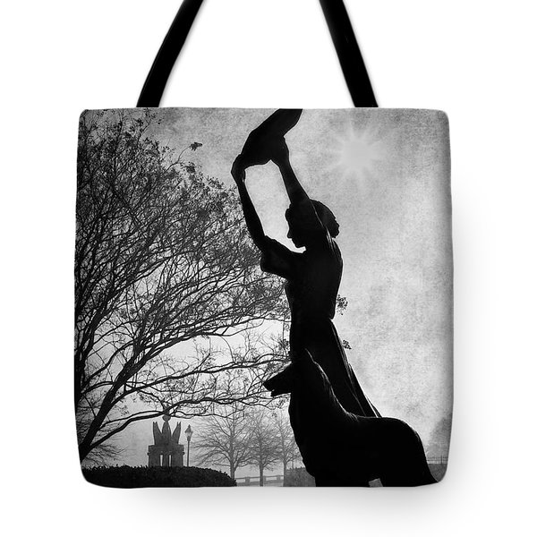 44 Years Of Waving - Black And White Tote Bag by Renee Sullivan
