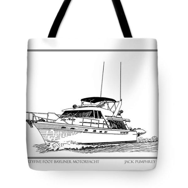 45 Foot Bayliner Motoryacht Tote Bag by Jack Pumphrey