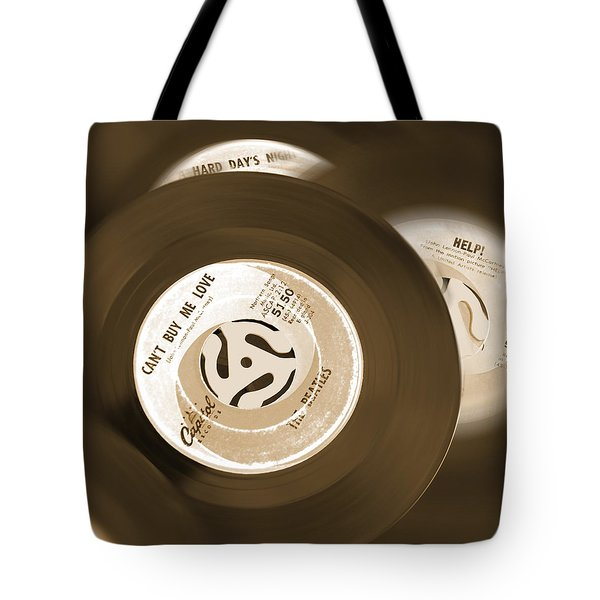 45 Rpm Records Tote Bag by Mike McGlothlen