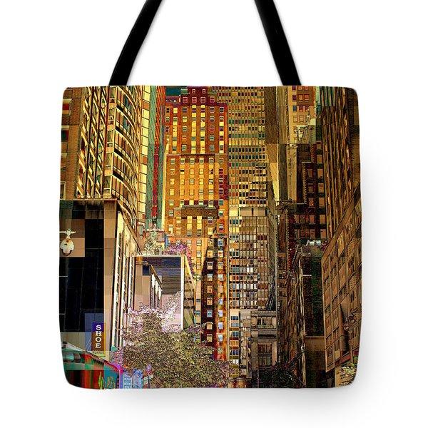 45th Street Redux Tote Bag by Miriam Danar