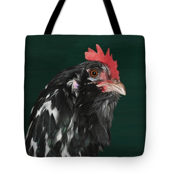47. Bearded Hen Tote Bag