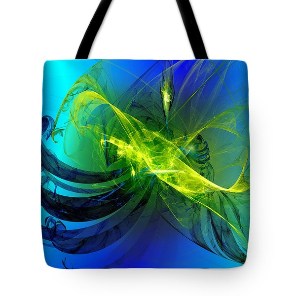 Tote Bag featuring the digital art 47 by Jeff Iverson