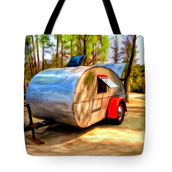Tote Bag featuring the painting 47 Teardrop by Michael Pickett