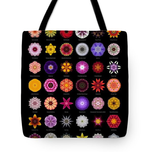 48 Flower Mandalas Tote Bag